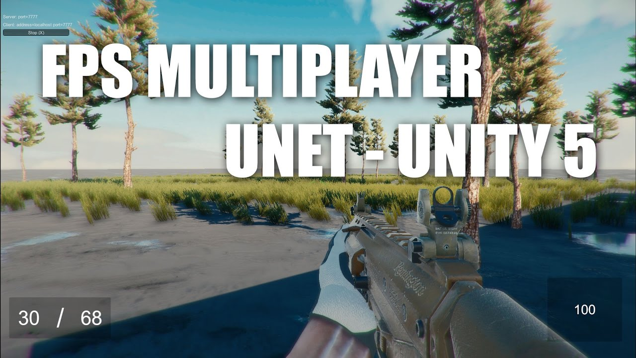FPS Multiplayer Unet Test #1 - Unity 5