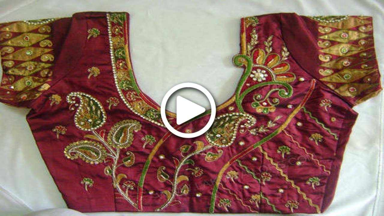 Latest Maggam Work Blouse Designs 2018 Ssi Small Scale
