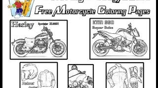 Coloringbuddymike Motorcycle Coloring Pages
