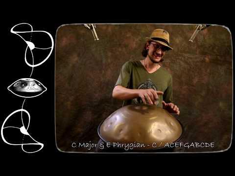 Shellopan - 12 handpan scales demoed by Daniel Waples