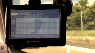 GPS geometer. Cut out of non-productive area
