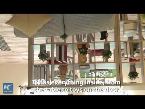"""""""Upside down house"""" debuts in Chongqing, SW China"""