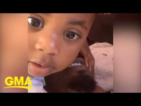 This Toddler Needed A Little Reassurance That She Is Loved L GMA Digital
