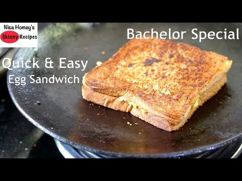 Quick & Easy Egg Sandwich Recipe – Easy Breakfast Recipes – Bachelor Recipes
