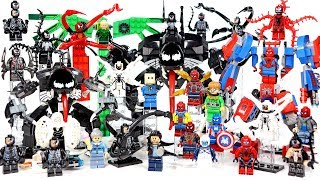 Venom Mech Suit vs Spider-Man plus Carnage Vulture Doc Ock & more Unofficial LEGO Minifigures