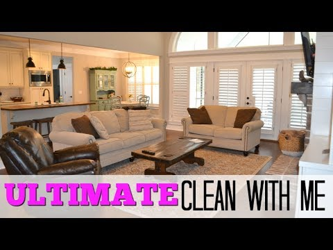 ULTIMATE CLEAN WITH ME   SPEED CLEAN ENTIRE HOUSE CLEANING   MAJOR CLEANING MOTIVATION