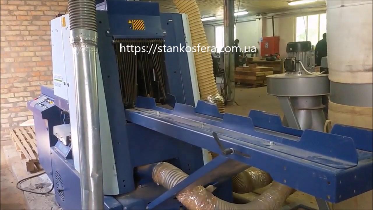 переработка тонкомера, брусовочный станок + многопильный станок .