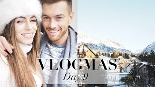 vlogmas day 9   packing for switzerland arriving at hotel cheese fondue   lydia elise millen