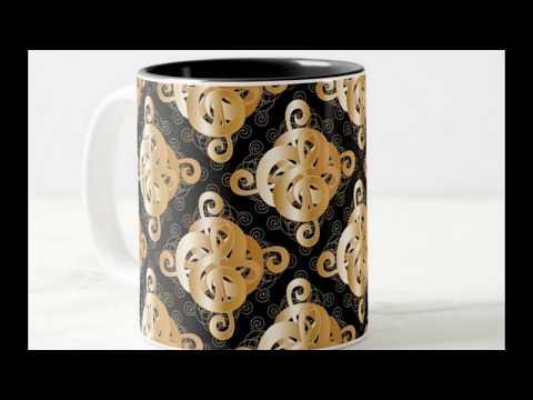 Musical Notation Treble Clef Medallion Coffee Mugs
