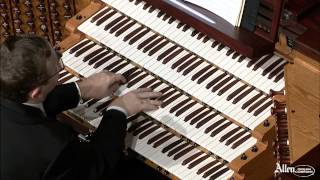 Allen Organ Artist William Picher plays Toccata in D Minor by Gordon Blach Nevin