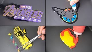 Marvel Avengers Endgame Pancake Art - Logo, Captain marvel, Ironman, Thanos, Captain america, Thor