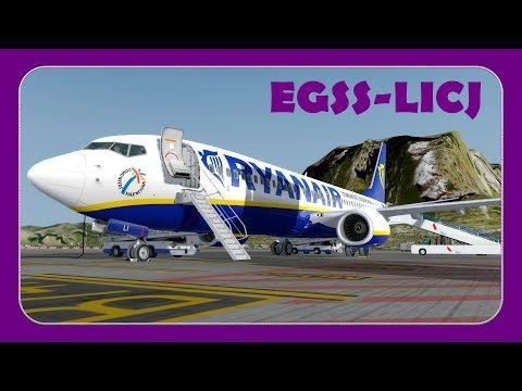 [P3D] RYR41NJ   Stansted-Palermo   Ryanair 737-800   PMDG NGX  