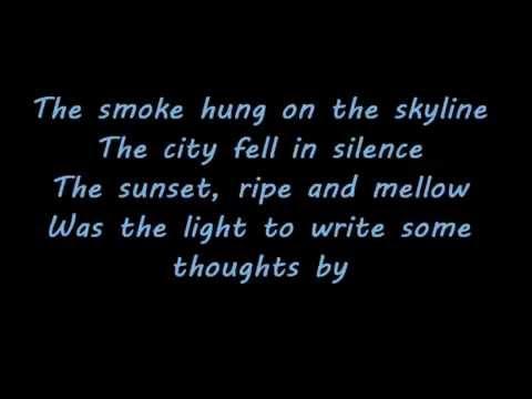 Evening Over Rooftops~Edgar Broughton Band~Lyrics