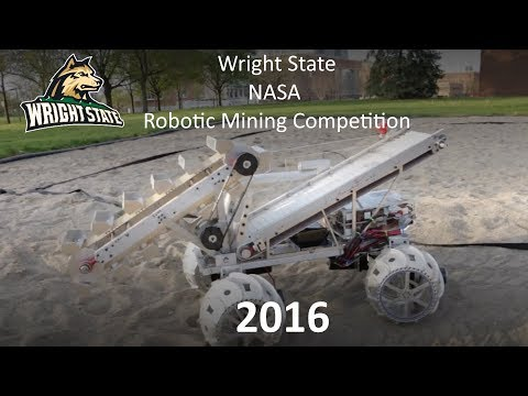 Wright State University 2016 NASA Robotic Mining Competition Submission Video