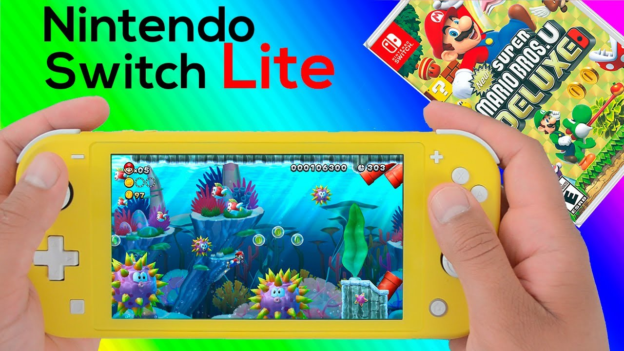 New Super Mario Bros U Deluxe Nintendo Switch Lite Gameplay Youtube