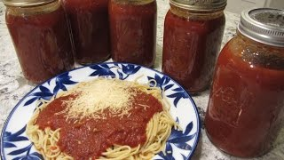 Spaghetti Sauce Canning Recipe - Delicious!