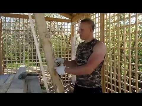 Как сделать деревянный шпалерный забор своими руками