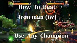 how to beat iron man infinity war (use any champion) marvel contest of champion