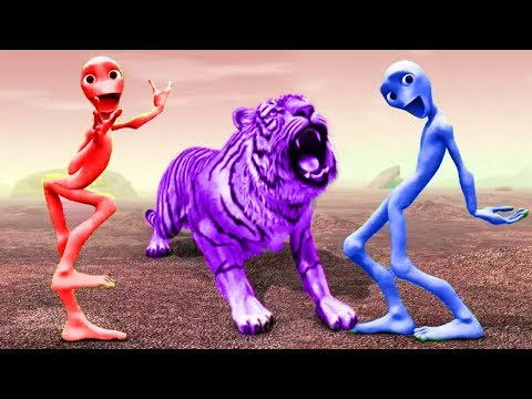 Funny Alien Dance Learn Colors with Animals|Tiger, Lion, Pig, Dog | Song for Kids