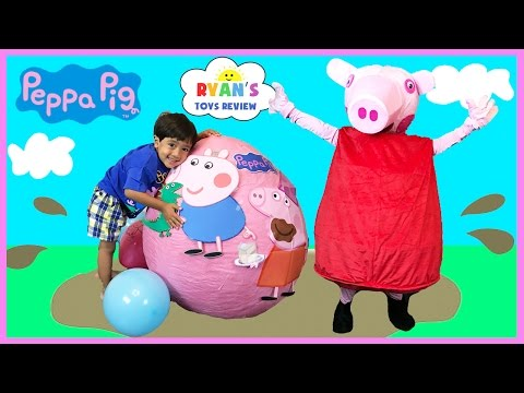 Thumbnail: Peppa Pig Giant Surprise Egg Opening! Peppa Pig Toys Playtime and Toy Unboxing Ryan ToysReview