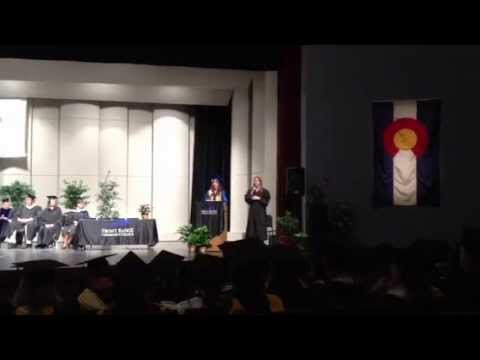 Courtney's graduation from Front Range Community College