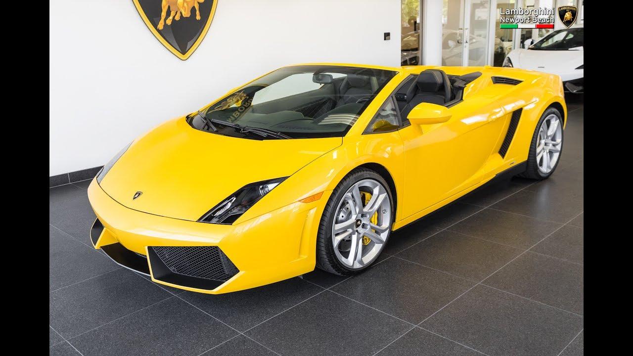 2012 Giallo Midas Lamborghini Gallardo Lp550 2 Spyder Youtube