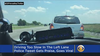 Indiana Officer Pulls Over Driver Going Too Slowly In Left Lane