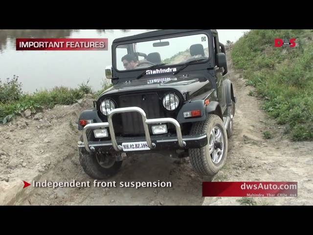 Mahindra Thar Road Test And Video Review Mahindra Thar 4x4 For A