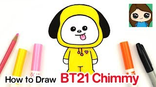 How to Draw BT21 Chimmy | BTS Jimin Persona