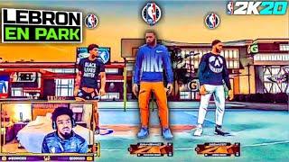 LEBRON JAMES JUEGA SU PRIMER JUEGO EN EL PARQUE NBA 2K20 Con Anthony Davis y Quinn Cook