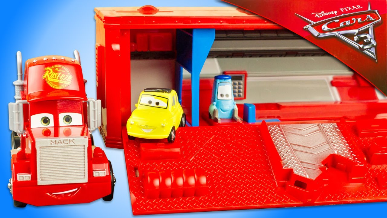disney cars 3 camion mack transporteur lanceur flash mcqueen jackson storm jouet toy review. Black Bedroom Furniture Sets. Home Design Ideas