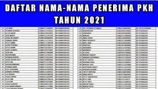 Cara Cek Nama Penerima PKH Tahun 2021