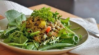 Reel Flavor - Lentil, Quinoa & Black Bean Hummus Salad