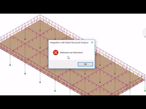 Solving Problem (Error Run Time) when Exporting Project From Revit To Robot Strucural Analysis