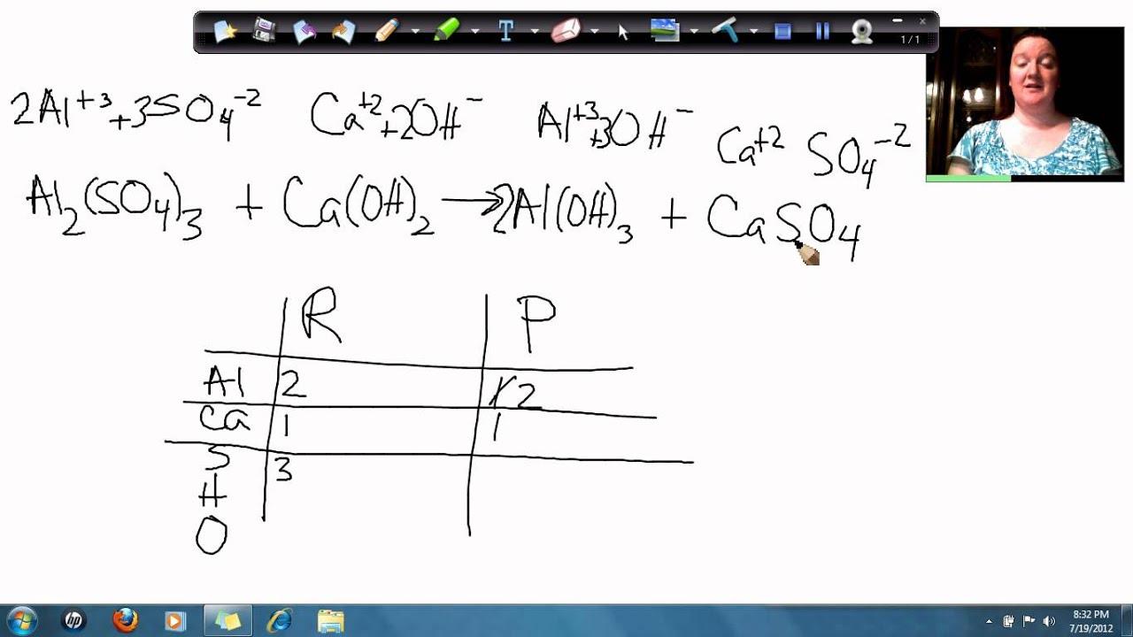 Aluminum Sulfate And Calcium Hydroxide Make Aluminum Hydroxide And