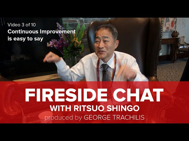 Ritsuo Shingo says that continuous Improvement (CI) is easy to say