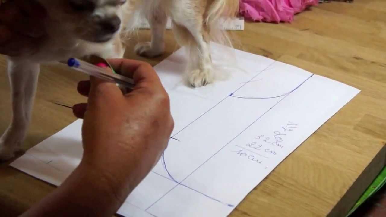 Chihuahua r alisation d 39 un patron part 1 tutorial youtube - Fabriquer panier pour chien ...