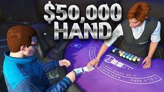 $50,000 BLACKJACK BET! (GTA Online Casino Gameplay)