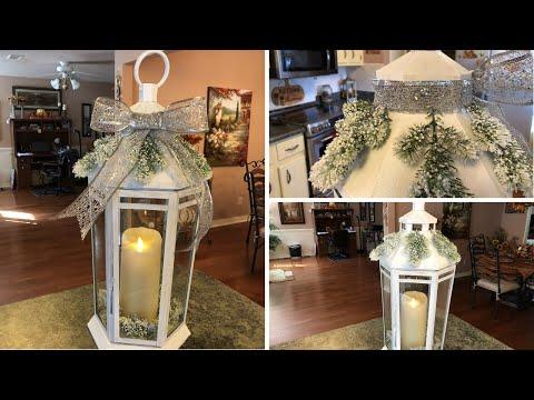 Painted Christmas Lantern Diy 2018