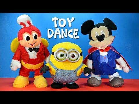 Dancing Mickey Mouse Despicable Me Minion Bob & Jollibee Animated Plush Toys