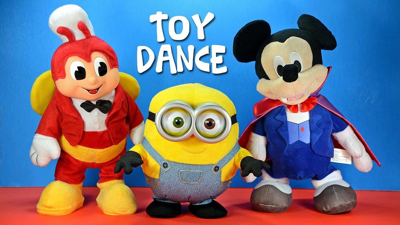 dancing mickey mouse despicable me minion bob amp jollibee