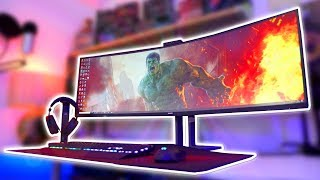 The SUPER MEGA ULTRAWIDE 5K Monitor! - Philips 499P9H Review =D