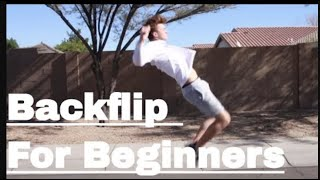 How To Do A Backflip For Beginners Or Kids