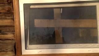 Окно /решетка на окно/бетонный блок своими руками