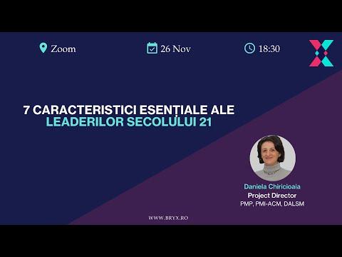 BRYX Webinars - 7 caracteristici esențiale ale leaderilor secolului 21