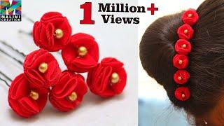 Tutorial for velvet cloth flower U pin