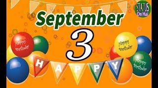 3 September Special New Birthday Status Video, happy birthday wishes, birthday msg quotes जन्मदिन