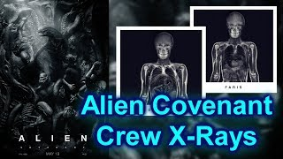 Alien Covenant Crew X-Rays - removed marketing campaign