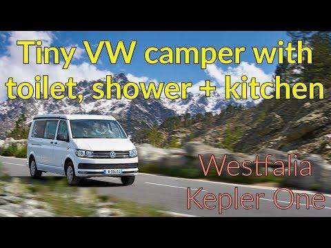 Tiny camper with kitchen, toilet and shower : Westfalia Kepler One #vanlife #campervan #RV