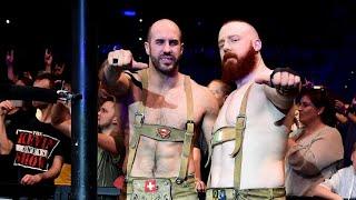 The Bar don lederhosen for SmackDown Live in Germany